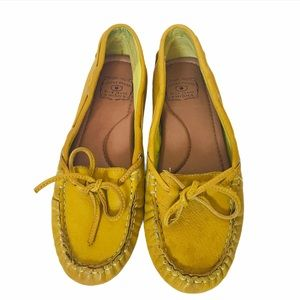 Mustard Yellow Leather Lucky Brand Flats Loafers